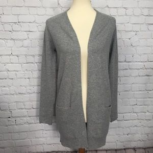 THEORY 100% CASHMERE LONG CARDIGAN